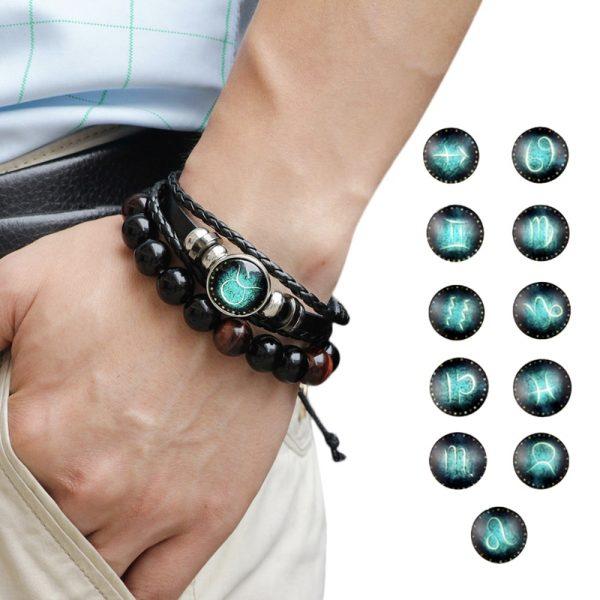 punk rock zodiac bracelet feature