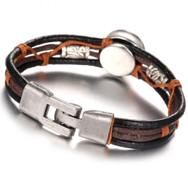 punk zodiac bracelet back