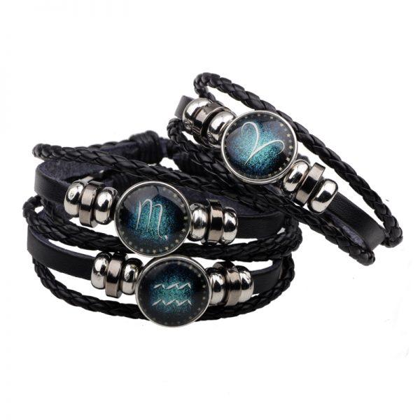 punk zodiac bracelets