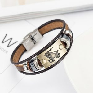 taurus zodiac clasp bracelet